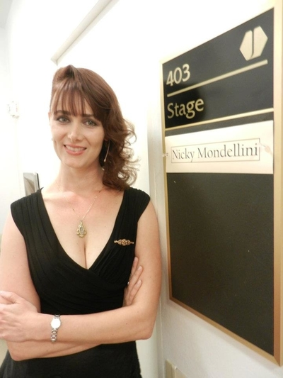 Nicky Mondellini At-dressing-room-in-Jones-Hall